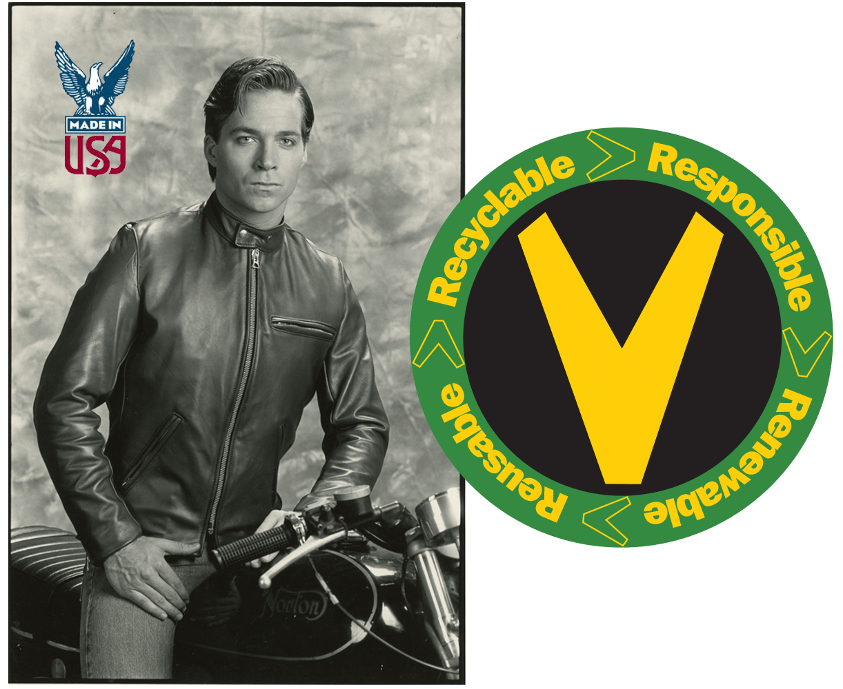 Vanson Leathers used garments offered in our Nearly New site are looked over cleaned and if neaded repaired before being put on the rack for resale.